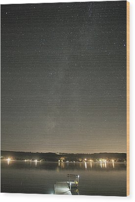 Milky Way Spills Into Conesus Wood Print