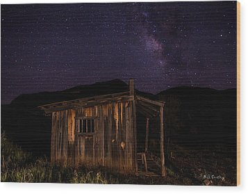 Milky Way Rising Wood Print by Bill Cantey