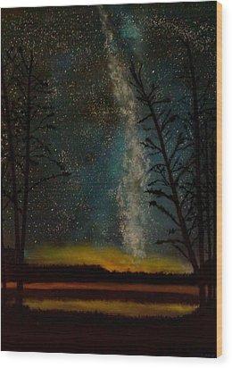 Milky Way Wood Print by Steve Hermann