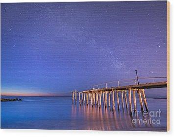 Milky Way Sunrise Wood Print by Michael Ver Sprill