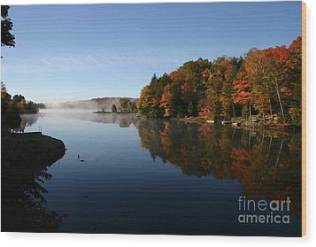 Mill Lake Thanksgiving Wood Print