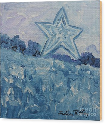 Mill Mountain Star Wood Print