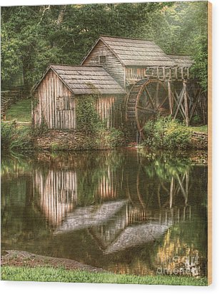 Mill On The Blue Ridge  Wood Print by Darren Fisher