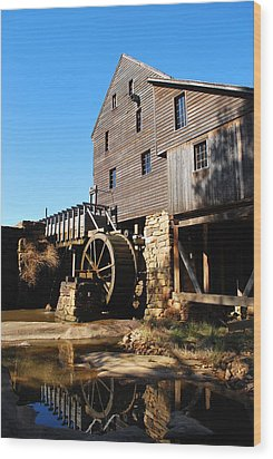 Wood Print featuring the photograph Mill Reflection by Bob Sample