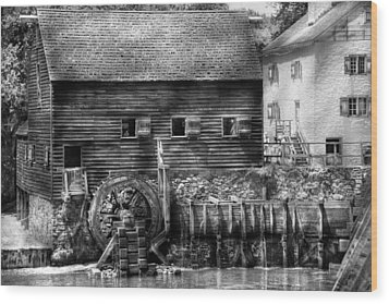 Mill - Sleepy Hollow Ny - By The Mill  Wood Print by Mike Savad