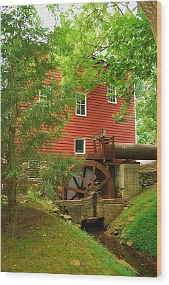 Wood Print featuring the photograph Grist Mill Water Wheel by Bob Sample