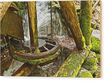 Mill Wheel Wood Print
