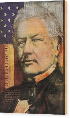 Millard Fillmore Wood Print by Corporate Art Task Force