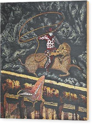 Millennium  Cowboy Wood Print by Larry Butterworth