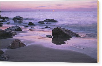 Millennium Sunrise Singing Beach Wood Print