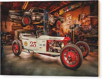 Millers Chop Shop Track T Toyota Wood Print