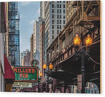 Wood Print featuring the photograph Miller's Pub  by James Howe