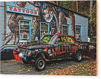Milltown's Edsel Comet Wood Print by Mike Martin
