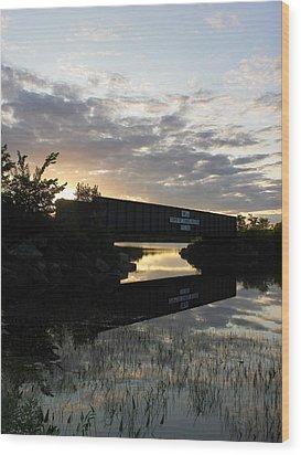 Milo Town Of Three Rivers Wood Print