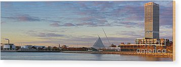 Wood Print featuring the photograph Milwaukee At Sunrise  by Ricky L Jones