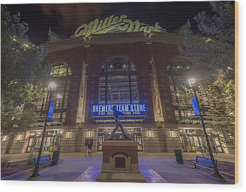 Milwaukee Brewers Miller Park 2 Wood Print by David Haskett