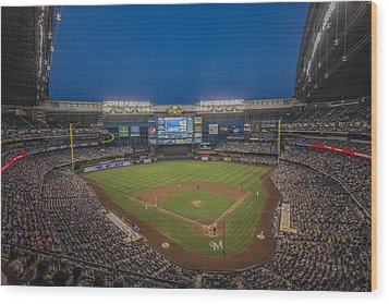 Milwaukee Brewers Wood Print by David Haskett