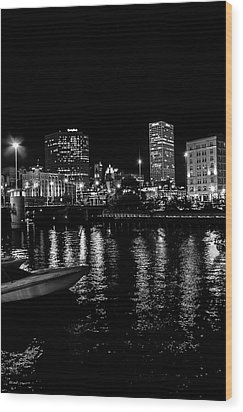 Milwaukee Downtown Third Ward Wood Print by Susan  McMenamin