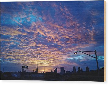 Milwaukee Sunrise Wood Print