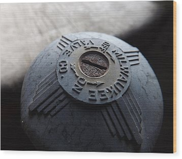 Milwaukee Valve Co. Wood Print by Elizabeth Sullivan