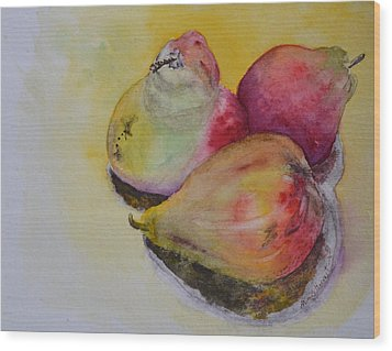 Mimi's Harvest Wood Print by Beverley Harper Tinsley