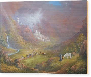 Minas Tirith  War Approaches. Wood Print by Joe  Gilronan