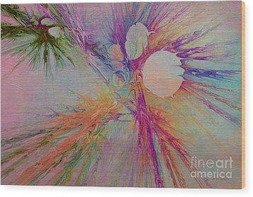 Mind Energy Aura Wood Print by Deborah Benoit