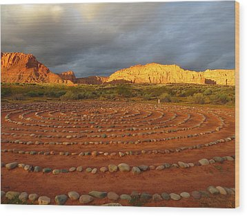 Mindfulness In St. George Utah Wood Print by Jean Marie Maggi