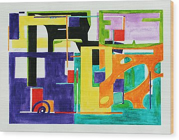 Mindscape II Wood Print by Xueling Zou