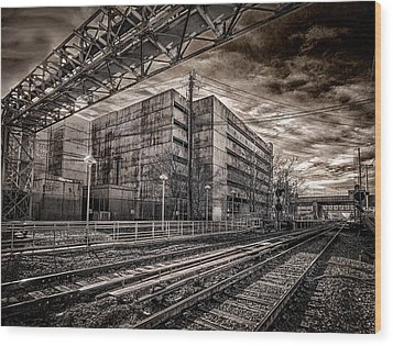 Wood Print featuring the photograph Mineola Station by Steve Zimic