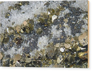 Minerals 4 Wood Print by T C Brown