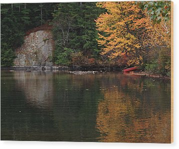 Wood Print featuring the photograph Minge Cove by Mim White