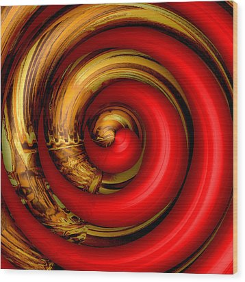 Mingle - Red Wood Print by Wendy J St Christopher