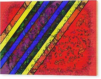 Mingling Stripes Wood Print