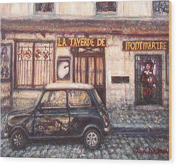 Mini De Montmartre Wood Print by Quin Sweetman