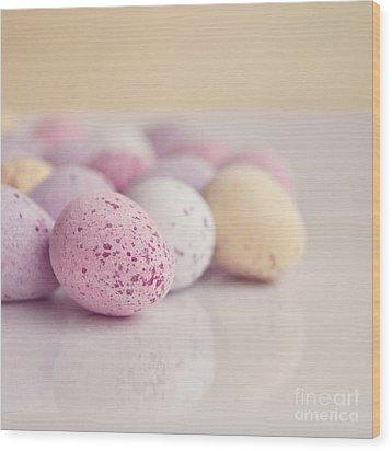 Mini Easter Eggs Wood Print