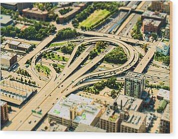 Mini Motorway Wood Print by Andrew Paranavitana