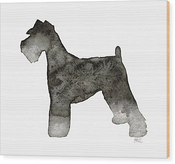 Wood Print featuring the painting Miniature Schnauzer by Laura Bell