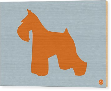Miniature Schnauzer Orange Wood Print by Naxart Studio