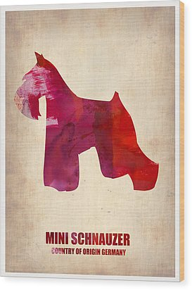 Miniature Schnauzer Poster Wood Print by Naxart Studio
