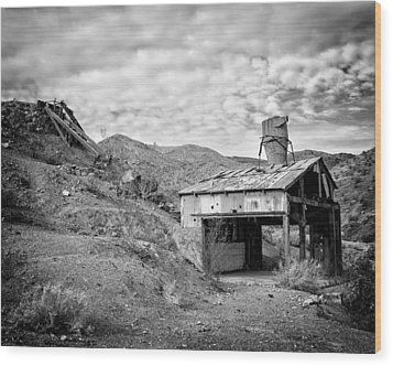 Mining Structures Darwin Hills Ca Wood Print by Troy Montemayor