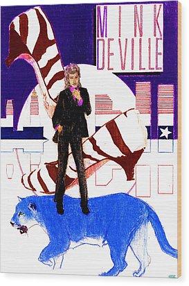 Mink Deville - Le Chat Bleu Wood Print