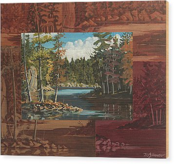 Mink Lake Exit Wood Print