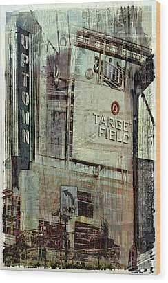 Minneapolis Area Collage Wood Print by Susan Stone