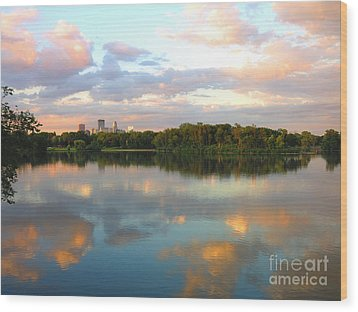 Minneapolis Lakes Wood Print