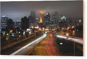 Wood Print featuring the photograph Minneapolis Skyline Mn by RC Pics