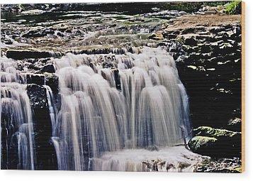 Minneopa Falls Upper Wood Print by Mark Russell