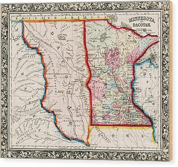 Minnesota And Dacotah  Wood Print by Pg Reproductions