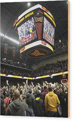 Minnesota Fans Celebrate Victory At Williams Arena Wood Print by Replay Photos