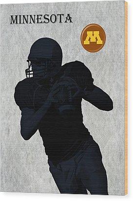 Minnesota Football Wood Print by David Dehner